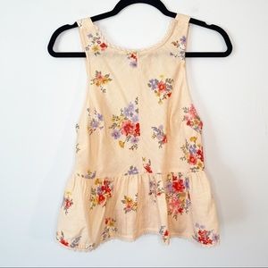 NWOT AEO Floral Cropped Peplum Tank Top Blouse
